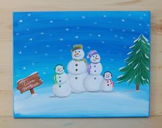 11x14+Snowman+Family+Portraits+Made+to+by+LaceysCraftyLetters