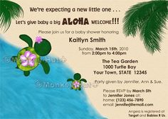 Diy baby shower invitation beach baby template parties events baby shower invitation honu adorable turtle theme by monkeyhut filmwisefo