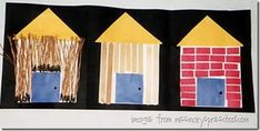 3 little pigs house craft