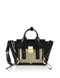 3.1 PHILLIP LIM The Pashli Mini Calf Hair and Leather Trapeze Bag