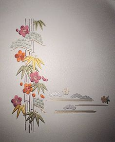Japanese embroidery ; Shochikubai - Mile High
