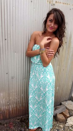 Mint Damask Maxi... have one in ivory & black, loving this color too and thinking about getting this color as well...