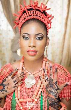Stunning Edo Bride | Barbara Irianan & Alex Ogbe's Traditional Wedding | Make Up by MUD Nigeria | The Atilary Team