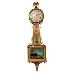 Spectacular Antique Wall Clock Waltham 42 Quot Banjo Perry S
