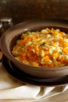 Risotto z dynią Risotto, Food And Drink, Vegetables, Ethnic Recipes, Thermomix, Vegetable Recipes, Veggies