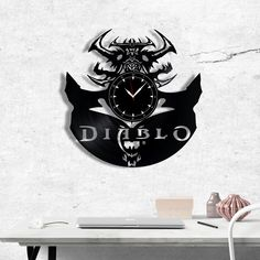Diablo Vinyl Record Clock - Diablo wall clock - Best Gift for Fans Diablo - Original Gift for Wall Decor Vinyl Record Clock, Vinyl Records, Vinyl Gifts, Cnc, Gift Guide, Best Gifts, Gifts For Her, Gift Wrapping, Wall Decor