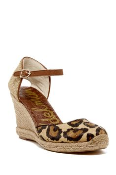 26475d0edcdf9 Harmony Genuine Cow Hair Espadrille Wedge by Sam Edelman on  nordstrom rack  Espadrille Wedge