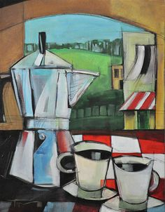 Espresso Print featuring the painting Espresso My Love by Tim Nyberg