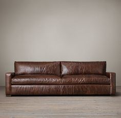 The Petite Maxwell Leather Sofa | Restoration Hardware
