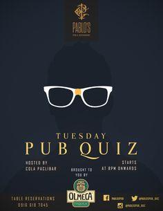 Pablo's Pub & Restaurant Posters on Behance