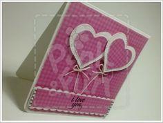 """Flying Hearts"" Card http://pinkandfun.blogspot.pt/2014/02/cartao-flying-hearts.html"