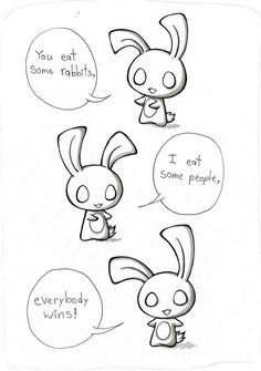Chui bunny is one of my favorite things Echo Gillette has drawn