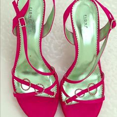 Fioni Strappy Hot Pink High Heels