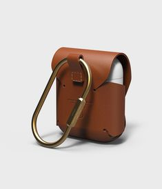 elago AirPods Leather Case [Brown] - [Compatible with Apple AirPods 1 & Wireless Charging][Genuine Leather][Added Brass Ring Holder] – for AirPods 1 & 2 Leather Gifts, Leather Art, Leather Pouch, Leather Design, Cowhide Leather, Leather Backpack, Leather Harness, Leather Gloves, Brown Leather