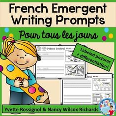 Writing Prompts for First Grade Distance Learning First Day Of School, Back To School, Communication Orale, French Language Learning, Language Arts, French Immersion, Writing Activities, Writing Centers, Cool Writing