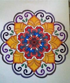 ColorIt Mandalas to Color Volume 1 Colorist: Barbara Jean Smith Kirby #adultcoloring #coloringforadults #mandalas #mandala #coloringpages