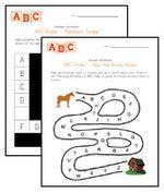 Free printable alphabet worksheets for preschoolers.