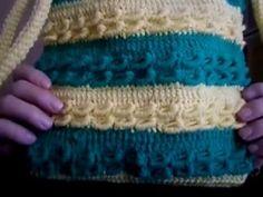borsa bicolor  a strisce in punto rughetta .