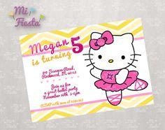 Hello Kitty Ballet Dancer Birthday Party Custom by MiFiesta, $9.99