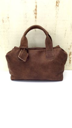 Sale!!! Brown leather handbag purse Small bag Top handles bag in distressed leather short handles by limorgalili. Explore more products on http://limorgalili.etsy.com