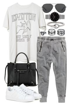 """""""Untitled #20109"""" by florencia95 ❤ liked on Polyvore featuring H&M, LULUS, Topshop, Balenciaga, Michael Kors, Acne Studios and adidas"""