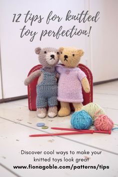 Discover 12 easy ways to make your knitted toys look really professional. Includes tips on placing and sewing eyes, how to stuff... and lots more!