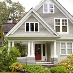 Secluded Retreat - traditional - exterior - new york - DeGraw & DeHaan Architects Cottage Paint Colors, Farm House Colors, Exterior Colors, Exterior Design, Exterior Paint, Home Improvement Companies, Traditional Exterior, Traditional Homes, My Dream Home