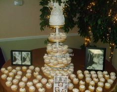 50th Wedding Anniversary Cupcake Tower