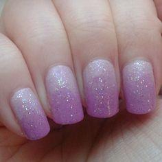 Pink gradient with sparkle xx