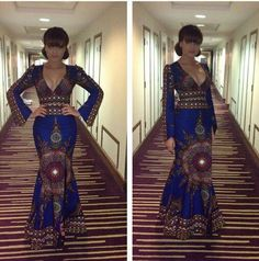 Nadia Buari...not of fan of the split shot but this dress is killer.