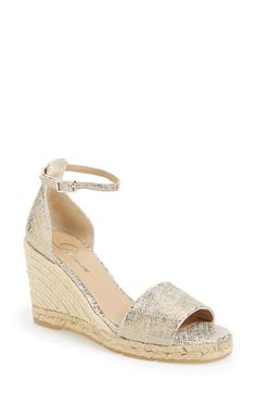 Delman 'Tira' Ankle Strap Espadrille Wedge (Women) available at #Nordstrom