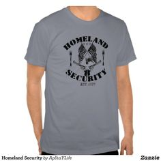 Men's Homeland Security Basic American Apparel Slate T-Shirt.  #style #new #guns #defense #alpha #tees #husband #father #military