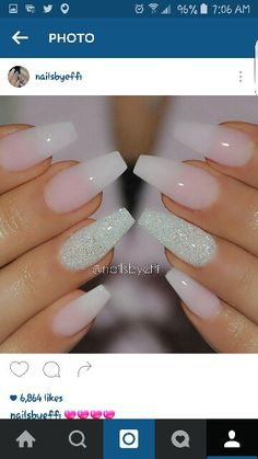 Ombre with diamond