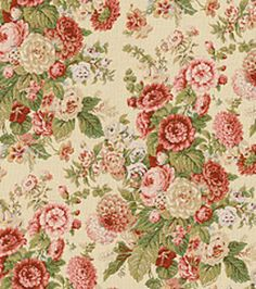 DIY wedding napkins - use multi floral designs for vintage feel Home Decor Print Fabric-Waverly Sitting Pretty Antique