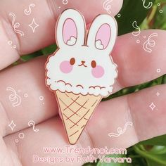 Bonnie Bun Ice cream Pin — Trendy Not