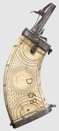 Original Pre American Revolutionary War Scrimshaw Powder