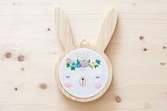 EMBROIDERY WALL ART. Bunny