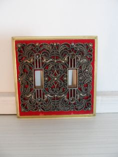 RESERVEDEmilyMid Century Retro Light Switch Cover by auctionannie