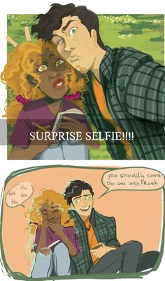 Can Jackson take a NORMAL selfie with his friends? No, he can't. He needs to surprise them for maximum facial ugliness. | art by anemicloser