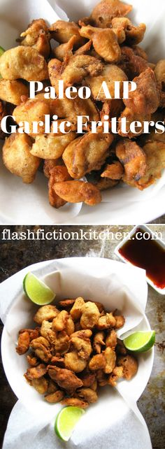 Deep Fried Garlic Fritters from Flash Fiction Kitchen (paleo, AIP, vegan)