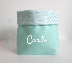 Panier / Vide poche / Corbeille en tissu réversible et