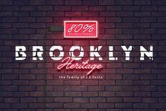 Brooklyn Heritage 80% off by MyCreativeLand on @creativemarket