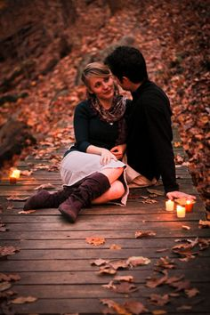 Engagement Pictures.. Like the tea lights