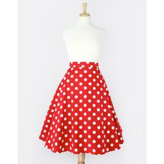 Pinup Red Polkadots Full Circle Skirt ($46) ❤ liked on Polyvore featuring skirts, bottoms, dresses, black, women's clothing, pinup skirt, polka dot skater skirt, cotton skater skirt, dot skirt and cotton skirt