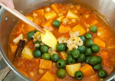 moroccan butternut squash chickpea stew recipe | Can be made vegan easily by using a vegan butter!