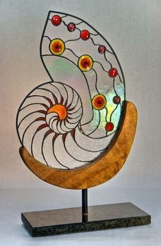 Stained glass autonomous panels and free standing glass sculpture