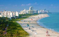 Miami  beach.  Un lugar super relajante y precioso al que me encantaría ir.