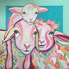 """Sweet Lamb O' Mine"" cut paper collage by Laura Yager. Country Cushions, Paper Cutting, Cut Paper, Animal Quilts, Altered Books, Pet Portraits, Mixed Media Art, Animal Kingdom, Animals Beautiful"