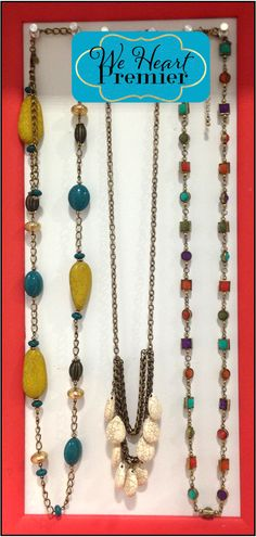 Buenos Aires, Carmel and Chiclet necklaces