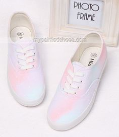#Galaxy painted Sneakers Custom Painted Canvas Shoes,Low-top Painted Canvas Shoes